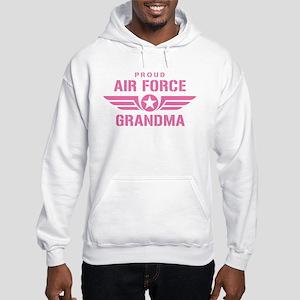 Proud Air Force Grandma W [pink] Hooded Sweatshirt